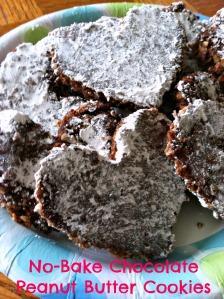 no-bake choc pb cookies