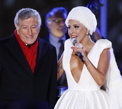 Lady Gaga Tony Bennett Rockefeller Christmas Tree