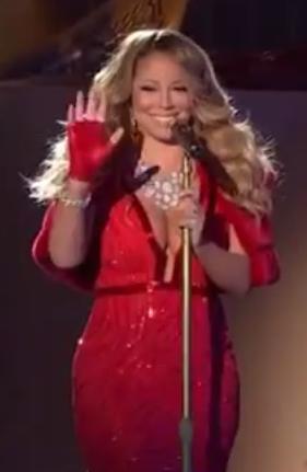 Mariah Carey Rockefeller Christmas Tree 2014
