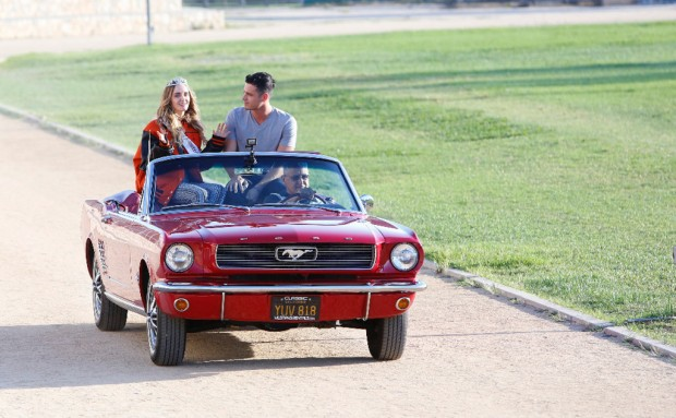 "BACHELOR - ""Episode 2002"" - Ben greets ten ladies at a local Los Angeles high school where he invites them to take a trip down memory lane with him, but Lace is desperate to redeem herself after her erratic behavior at the first rose ceremony. Chris Harrison gets the first one-on-one date off to an exciting start when he introduces Ice Cube and Kevin Hart, fresh from the set of ""Ride Along 2,"" to Ben and his date, and they are off on a rollicking, unconventional rendezvous, which will end with a special performance by popular singer-songwriter Amos Lee. Finally, a visit to The Love Lab will test six bachelorettes to see who among them has the best connection to Ben. The week culminates when the drama-filled rose ceremony has one lady making a stunning decision, on ""The Bachelor,"" MONDAY, JANUARY 11(8:00-10:01p.m. EST), on the ABC Television Network. (ABC/Greg Zabilski) AMANDA K., BEN HIGGINS"
